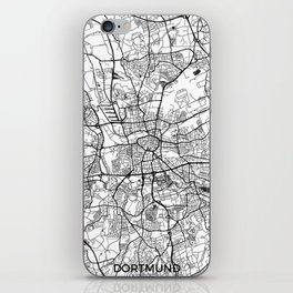 Dortmund Map Gray iPhone Skin