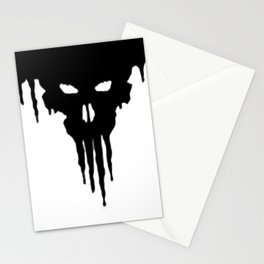 Dissolved Black Skull Stationery Cards