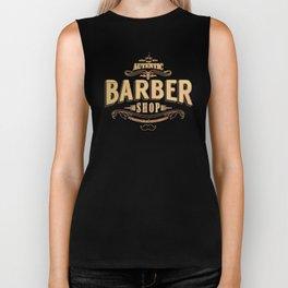 barber shop tee Biker Tank