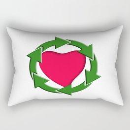Recycle In Heart Rectangular Pillow