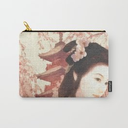Asian Rose Carry-All Pouch