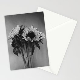 Black and White Sunflowers Stationery Cards