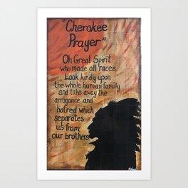 Cherokee Pray Art Print