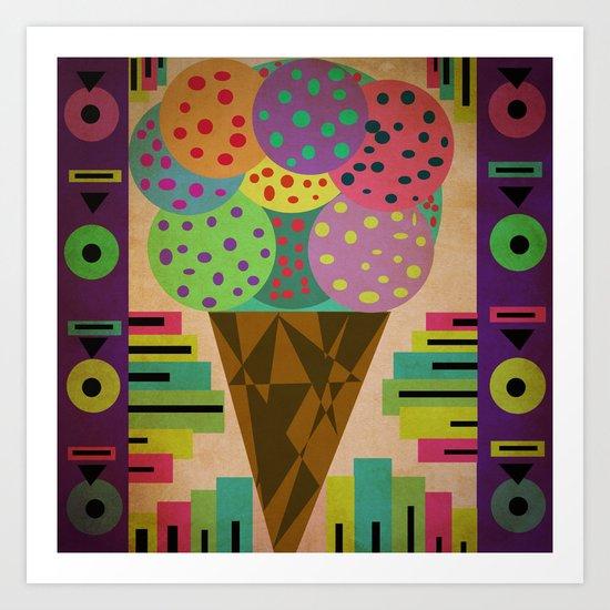 fancy ice cream Art Print