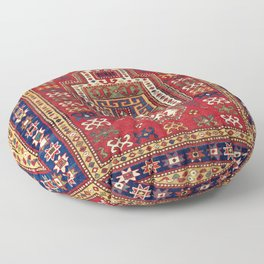 Kazak Antique West Caucasus Shield Rug Floor Pillow