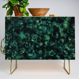 Dark Rich Teal Botanical Plant Abstract Credenza