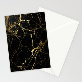 back & gold marble Stationery Cards