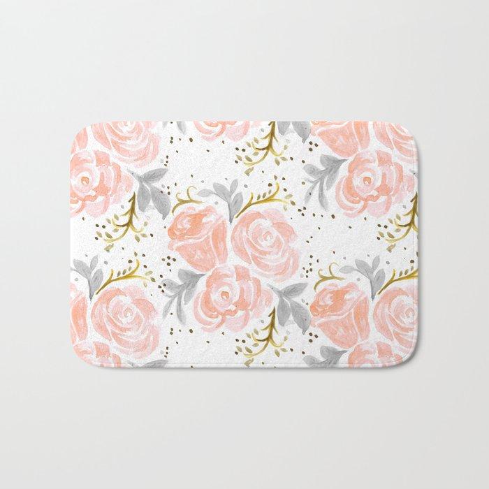 Sparkling Rosé flora Bath Mat