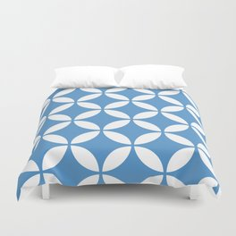 Palm Springs Screen: Turquoise Duvet Cover
