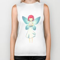 tooth Biker Tanks featuring Tooth Fairy by Freeminds