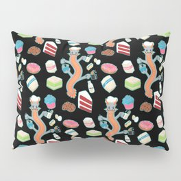 The Pastry Chef Dragon Pattern in Black Pillow Sham