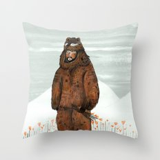 Wilder Mann - The Bear Throw Pillow