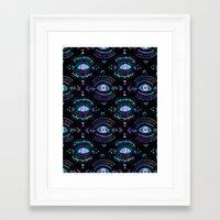 third eye Framed Art Prints featuring Third Eye by Schatzi Brown