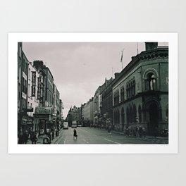 Streets of Dublin Art Print