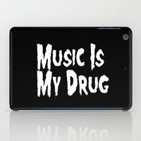 misfits iPad Cases featuring Music Is My Drug by Poppo Inc.