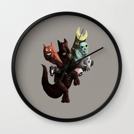 Danger Kangaroo Wall Clock