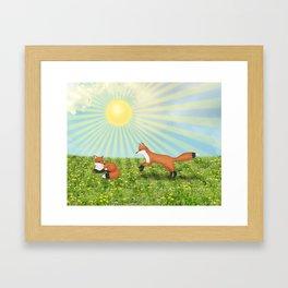 sunshine foxes Framed Art Print
