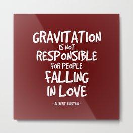 Falling in Love Quote - Albert Einstein Metal Print