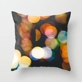 Defocused christmas lights Throw Pillow