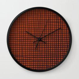 Navy and Rust (XV) Thread Pattern Wall Clock