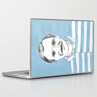 budapest hotel Laptop & iPad Skins featuring Ralph Fiennes. The Grand Budapest Hotel.  by Elena O'Neill