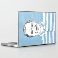 the grand budapest hotel Laptop & iPad Skins featuring Ralph Fiennes. The Grand Budapest Hotel.  by Elena O'Neill