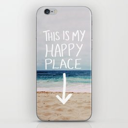 My Happy Place (Beach) iPhone Skin