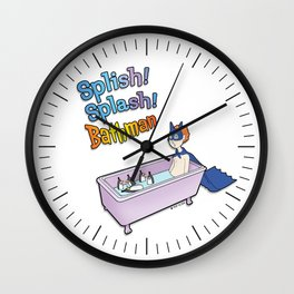 The Bath Guys - Splish! Splash! Bathman Wall Clock