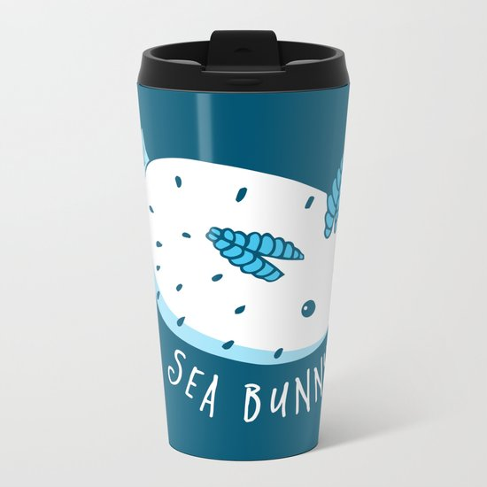 Sea Bunny Metal Travel Mug