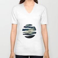 murakami V-neck T-shirts featuring Evening Sky by Geni