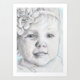 Michele's Granddaughter Art Print