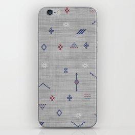 Cactus Silk Pattern in Grey iPhone Skin