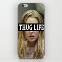 """lindsay lohan iPhone & iPod Skins featuring Lindsay Lohan """"Thug Life"""" **Signed** by ActuallyHappy"""