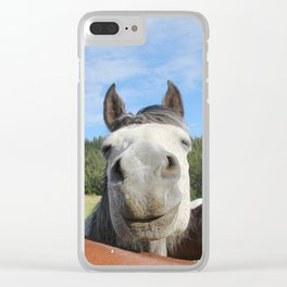 Horse Smile Photography Print Clear iPhone Case