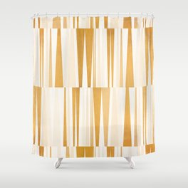 BEACHING PATTERN GOLD Shower Curtain
