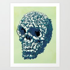 Bunny Skull Uprisings  Edition Art Print