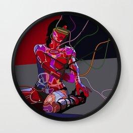 Jessica Biel 80s cyborg Wall Clock