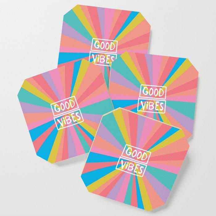 Radiating Good Vibes! Coaster