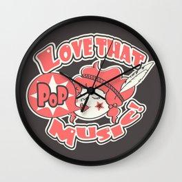 Pink Pop Wall Clock