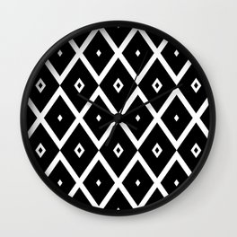 Abstract geometric pattern - black and white. Wall Clock