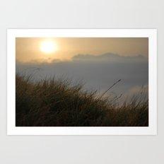 Sunrise macro Art Print