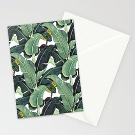 banana leaf pattern Stationery Cards
