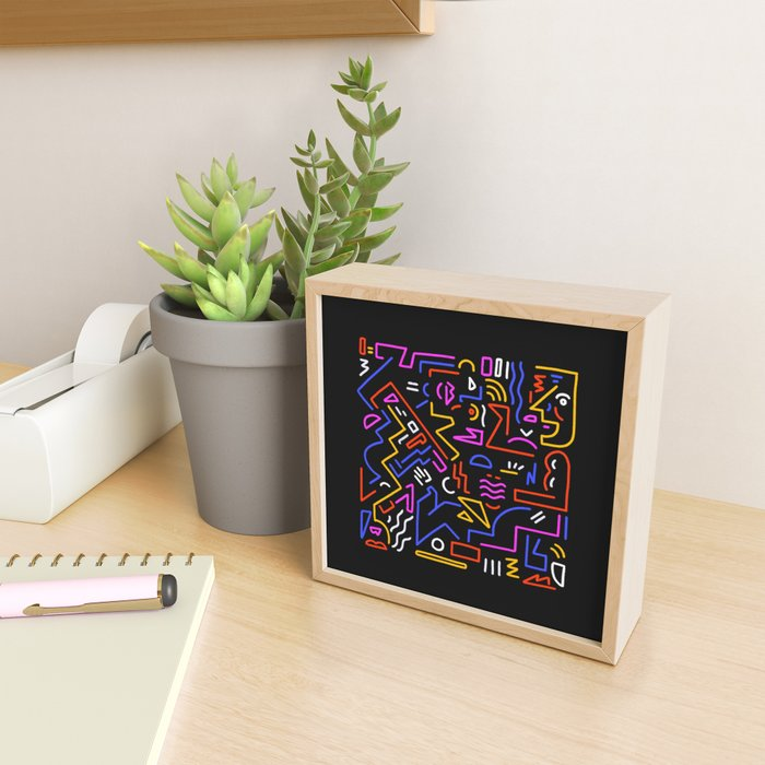Rock the box Framed Mini Art Print