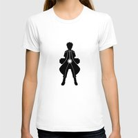 kakashi T-shirts featuring Naruto - Nine Tails Chakra Mode by Kesen