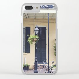 New Orleans Andrew Jackson Bicycle Clear iPhone Case