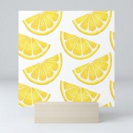 Pattern with slices of lemon Mini Art Print