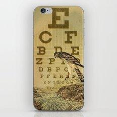 eye chart I iPhone & iPod Skin