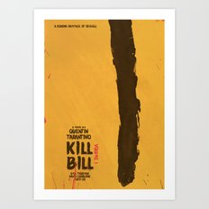 Kill Bill, Tarantino Movie Poster, Alternative, Minimal, Fine Art, Uma Thurman Art Print