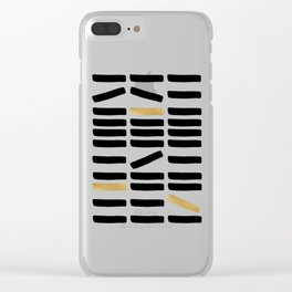 Black and Gold Abstract Clear iPhone Case