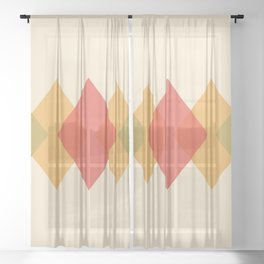 Rhombus Sheer Curtain